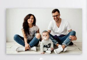 Dárek pro celou rodinu - fotoplátno