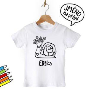 Vybarvovací tričko se jménem - originální dar