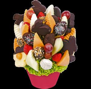 Velikonoční ovocná kytice jako dárek pro ženy