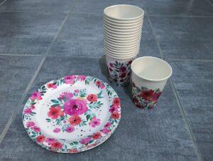 Papírové nádobí na dětskou oslavu narozenin
